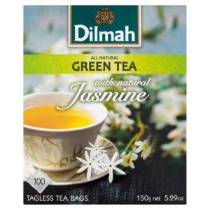 i-dilmah-zielona-herbata-jasminowa-150-g-100-torebek-300x300 Herbata jaśminowa – działanie i właściwości. Gatunki herbaty. Jak parzyć?